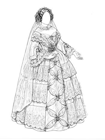 Paper Dolls Vintage Brides Series 1820 S 1830 S 1840 S