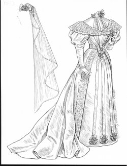 paper dolls vintage brides series 1820 s 1830 s 1840 s 1850 s Victorian Ball Gowns 1893 gown