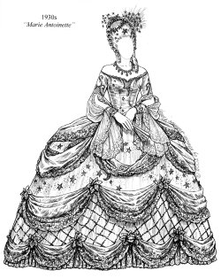 marie antoinette coloring pages - paper dolls archive hollywood costume oscar auction