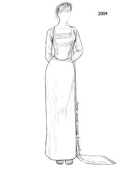 [2000's gown]