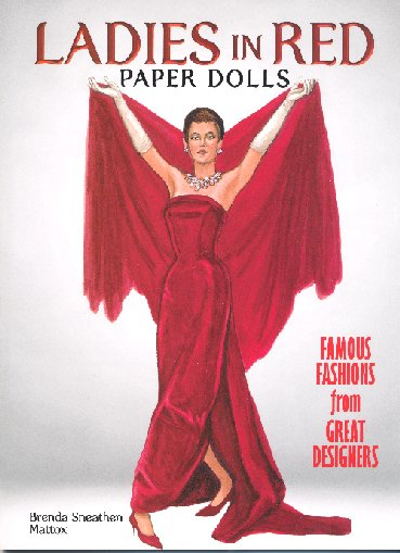 [Ladies In Red paper doll book ]