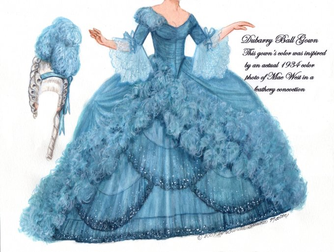 [Dubarry ball gown, Norma Shearer as Marie Antoinette]